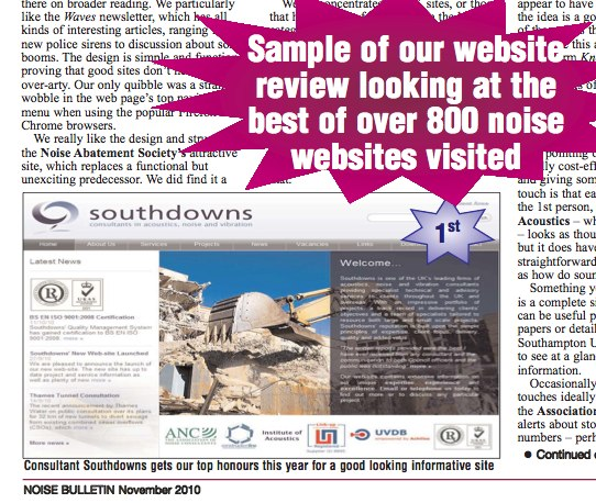 Southdowns wins 1st prize in website design review first image